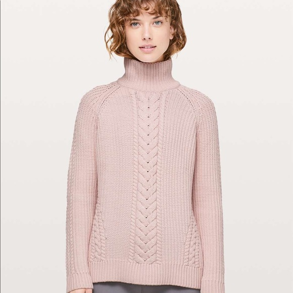 Pink knit sweater lululemon